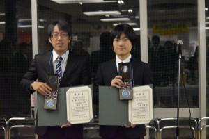 金賞受賞者 福本さん(右)と東野さん(左)